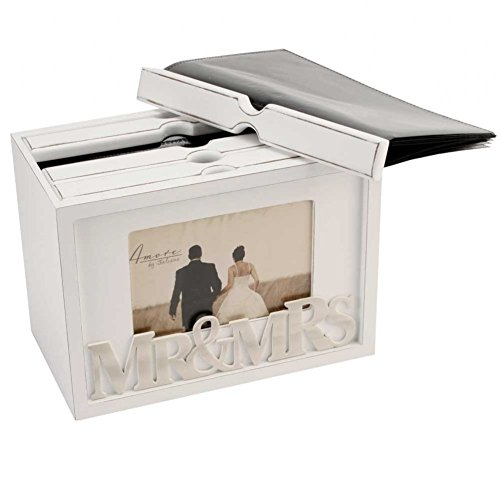 (1, Classic) - Vintage 80 Photo Box Album Photo Display Case Frame Wedding