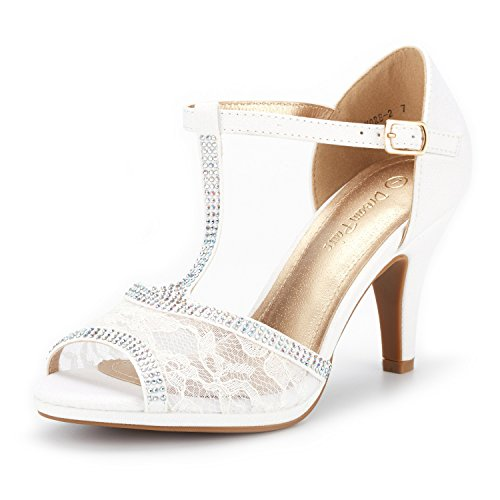 DREAM PAIRS Women's Stilettos Open Toe Pump Heel Sandals