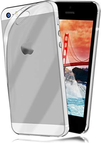 moex AERO Hülle Transparente Handyhülle kompatibel mit iPhone 5s / 5 / SE (2016) | Hülle Silikon Dünn - Handy Schutzhülle, Durchsichtig Klar