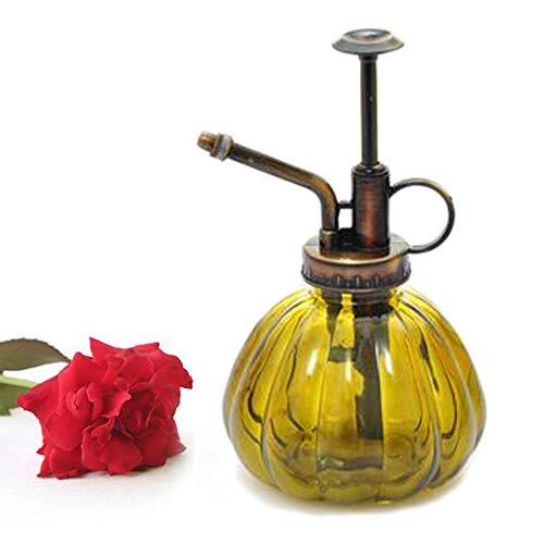bemodst® 1PC Colored Stripes Vintage Maceta decorativa de cristal Regadera pulverizador a presión para plantas bonsai Flores Herramientas de Jardinería, Yelloe