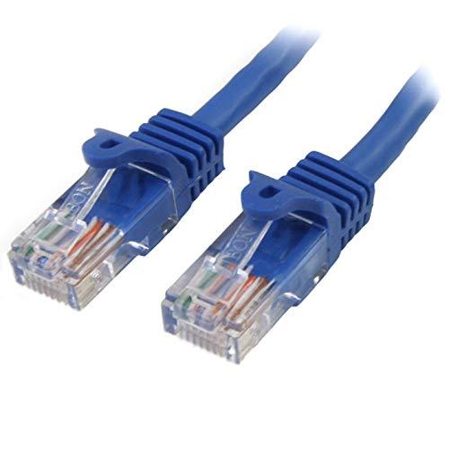StarTech.com 45PAT1MBL - Cable de 1m Red Fast Ethernet Cat5e RJ45 sin...