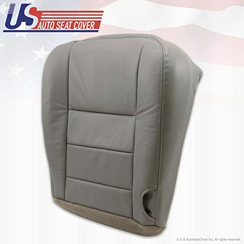 2003-2007 Compatible with Ford F250 F350 Lariat Crew Driver Side Bottom Leather Seat Cover Gray