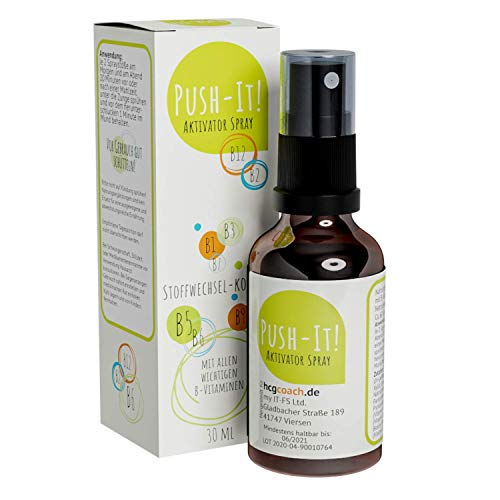 hCGC® Push-IT! Aktivator Spray (30 ml) - Keine Globuli mehr nötig | Für die 21 Tage Stoffwechselkur | Vegan, hormonfrei, alkoholfrei | Manufakturqualität