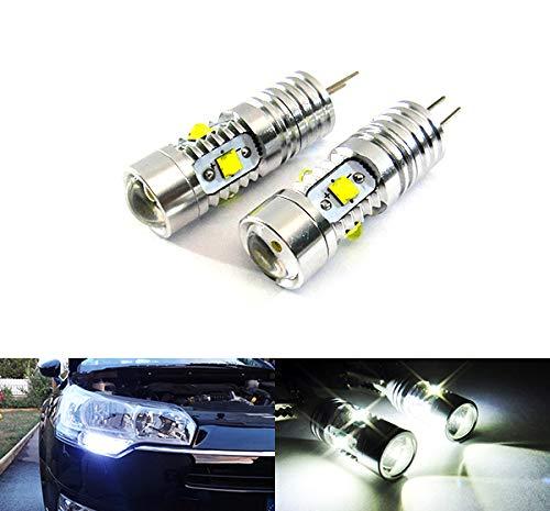 2 bombillas led de luz blanca HP24W, HPY24W, G4, luz lateral de conducción diurna DRL para coche