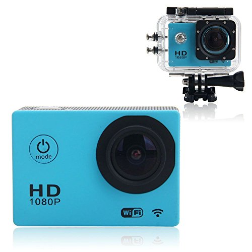 BEST SHOPPER 12MP Full HD 1080P Helmet Sports Action Waterproof Car Camera WiFi Camcorder - Blue