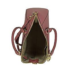 Michael Kors Large Ciara Safiano Leather Satchel Bag Rose (ROSE)