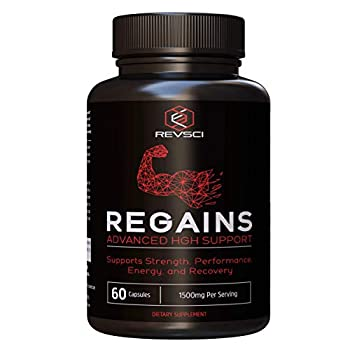 HGH Supplements for Men - Regains Naturally Stimulate Human Growth Hormone for Men - HGH for Men Muscle Building Muscle Growth Supplements for Men & Women Amino Acid & Bovine Colostrum 60 Capsules