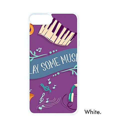 DIYthinker Elektrische Piano Muziek Headset Geluiden Wit Phonecase Apple Cover Case Gift