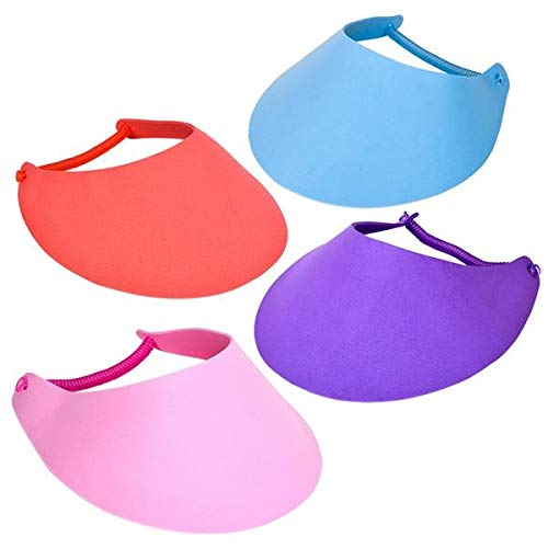 Rhode Island Novelty Foam Visors with Coil Band Assorted Colors One Dozen Per Order