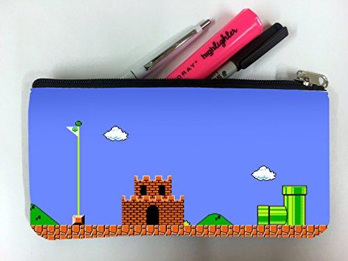 Original Super Mario Art Student Pen Pencil Case Coin Purse Pouch Cosmetic Makeup Bag