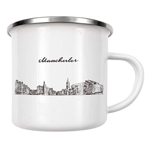 artboxONE Emaille Tasse Manchester von Alexandr Bakanov - Emaille Becher Städte