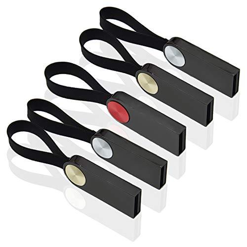 Chiavetta USB 16GB 5 pezzi Pendrives Kepmem Mini Metallo Pennetta USB Portachiavi Penna USB 2.0 Flash Drive Economica Elegante Chiave USB 16 GB Affari Colorato Memoria Stick Archiviazione Dati Regalo