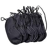 Shyymaoyi Lot de 10 masques de sommeil en polyester léger et confortable