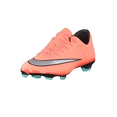 Nike Jr Mercurial Vapor X Fg, Mädchen Turnschuhe, Mehrfarbig - Gelb/Silber/Violett (Brght MNG/Mtllc Slvr-Hypr TRQ) - Größe: 36 1/2
