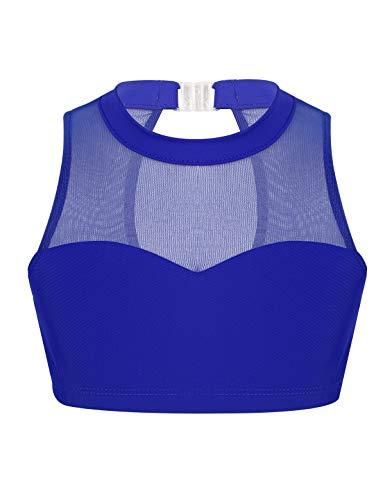 YOOJIA Chaleco Deportivo Niñas Tank Top sin Costura Camiseta Danza Gimnasia Traje Infantil Ropa de Deporte Ejercicios Gym (8-14 Años) Azul 10 Años