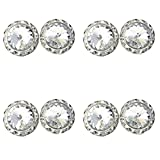4 Pairs 15mm Rhinestone Round Shaped Acrylic Stone Inside Crystal Ear Studs For Dance Competitions Stage Performance Bridal Party Earrings Jewelry Clear