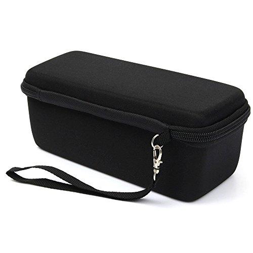 Prodrocam Schutztasche mit eine Netztasche Hartschalen-Schutzhülle für JBL Flip 5/4/3 oder Bose So&Link Mini Lautsprecher, Stoßdämpfender Etui (Schwarzes Futter)