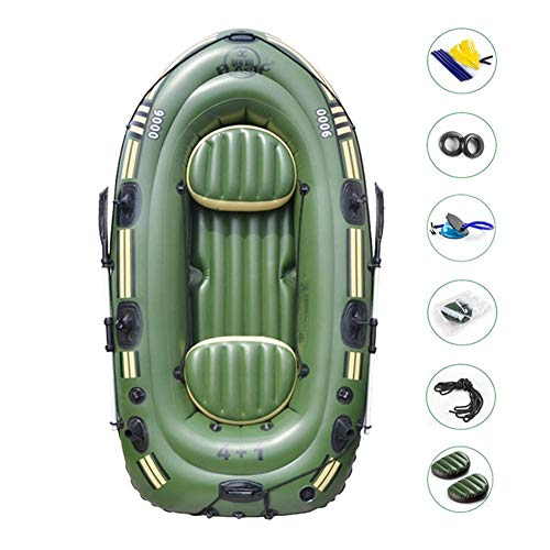 cobud Inflatable Kayak, Inflatable Boat Set, 2/3 Person PVC Inflatable Rafting Fishing Dinghy Tender Pontoon Boat with Paddles and Air Pump for Water Sports Fun