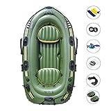 Gorgebuy - Juego de barcos inflables para exploración y rafting, pesca, bote, kayak y canoa, de PVC, para deportes acuáticos