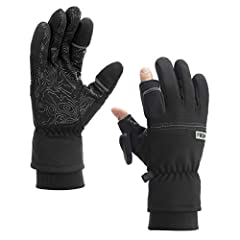 Awesome midweight convertible glove for you cold weather everyday activities. Flip back thumb & index finger caps with hidden magnets to free your fingers to take pictures, use your phone, or tie a fishing line while keeping your hands warm. Recommen...