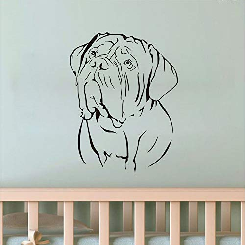 Wuyii Muurtattoo, motief honden, PVC, afneembaar, diermotief, zelfklevend, hol, decoratie, voor thuis, voor de woonkamer, 44 x 57 cm