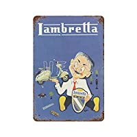 LAMBRETTA Innocenti Scooter Motorcycle Jours De France Art Tin Sign 30*40cm vintage home accessories displate tin signs retro metal plaques Iron Painting Rusty Poster