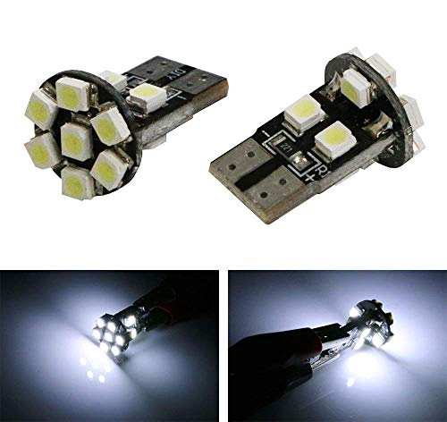 iJDMTOY (10) 13-SMD 168 194 2825 W5W T10 LED Bulbs Compatible With Car LED Lighting Conversion: Interior Map Dome Lights, Side Door Lights, License Plate Lights, Parking Lights, etc