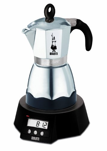 Bialetti Easy Timer - Cafetera Espresso eléctrica para 6 Tazas (Aluminio)