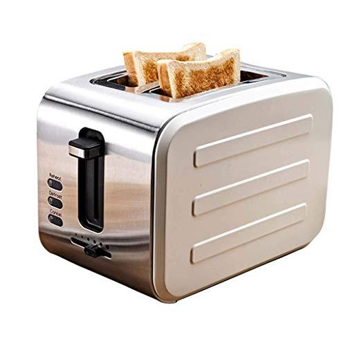 DHTOMC 900w Toaster, Edelstahl Spit-Treiber, Haus 2 Scheibe Frühstück Maschine Brot-Maschine, Blau Xping (Color : Beige)