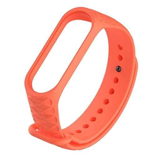 YANODA Sustitución De Correas For Xiaomi Mi Banda 3 Correa Inteligente Correa Pulsera Tipo Reloj Adjustable (Color : Blue)