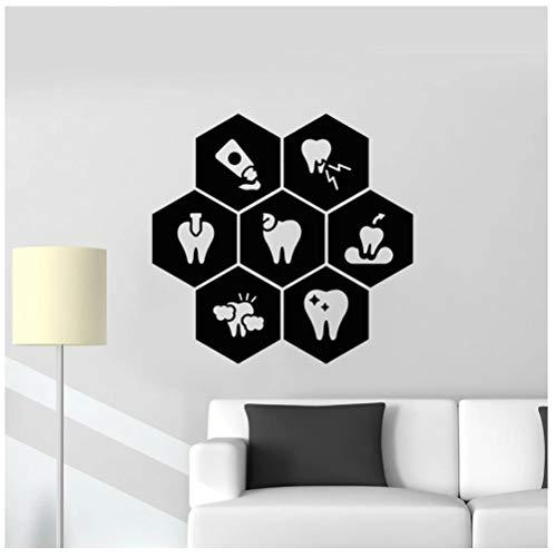 Hanzeze Gezonde tandpasta tandheelkunde muur Stickers Afneembare en levendige ontwerp DIY huis muur raam art deco sticker geschikt voor kinderkamer 57x59cm