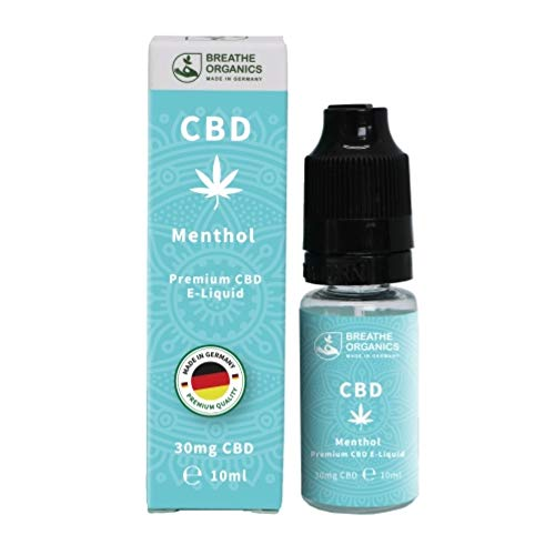 Premium CBD Liquid Menthol von Breathe Organics®   E Liquid ohne Nikotin mit 30 mg CBD   100% natürliche Terpene   Cannabidiol Liquid   VGmax Basis