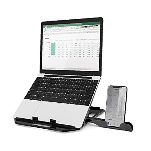 Tuimiyisou Soporte portátil con Soporte para teléfono portátil Laptop Stand Estable y no es fácil dañar Ajustable del sostenedor de la Tableta Antideslizante Notebook Riser Negro