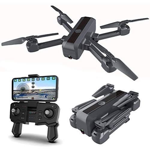 QIXIAOCYB Drone pieghevole for drone adulto con fotocamera 4K HD. for gli adulti con flusso ottico del sistema di posizionamento doppio 90 ° ESC Telecamera FPV. Trasmissione WiFi Video live con 2 batt