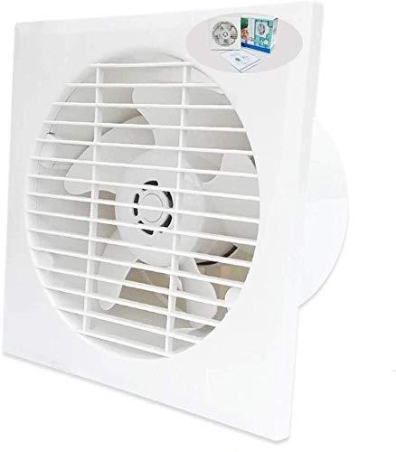 Extractor De Baño, Ventilador de extractor de baño, ventilador de extractor de cocina 6 pulgadas, cocina/baño/sala de estar/ventilación ventilador ventilador redondo ultra delgado ventana de ven
