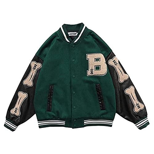 Incorra College Jacke Vintage Jacken Herren Baseball Sportjacke Sweatjacke Frauen