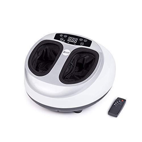 VITALZEN® MINI Masajeador de pies - Blanco (nuevo modelo 2020) - Masaje multifuncional 360° - Presoterapia - Reflexoterapia - Termoterapia - Alivio de dolor y tensión en pies cansados