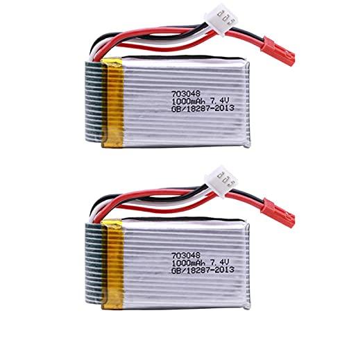 RFGTYH 7.4v 1000mah 703048 Batteria Lipo per MJXRC X600 U829A U829X X600 F46 X601H per JXD391 FT007 Batteria Lipo 7.4 V RC Parti di Giocattoli 2PCS