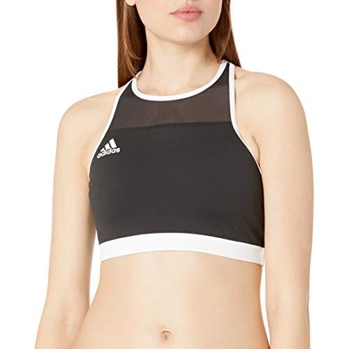 adidas Damen Don't Rest Beach Volleyball Top, Damen, Badebekleidung - Einzelteile, Dont Rest Beach Volleyball Top, schwarz/weiß, Large