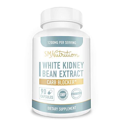 White Kidney Bean Carb Blocker (90 Capsules) 100% White Kidney Bean Extract Carb Blocker Supplements for Weight Loss, Keto & Appetite Suppressant*