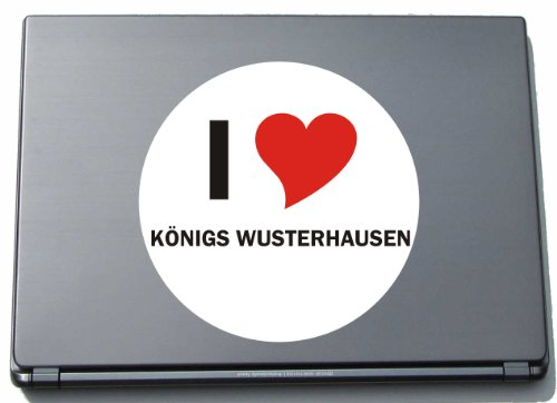 I Love Aufkleber Decal Sticker Laptopaufkleber Laptopskin 210 mm mit Stadtname KOENIGS WUSTERHAUSEN