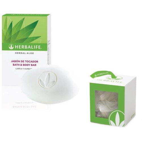 Jabón herbal de aloe herbal, barra de baño y cuerpo con esponja de baño, 125 g