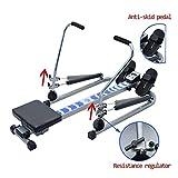 Ruderzugmaschine mit Multifunktionale Körper Glider Rudergeräte Indoor Heimtrainingsgerät Fitnessgeräte Gym Drehmaschine (Farbe : Mehrfarbig, Größe : Einheitsgröße) - 2