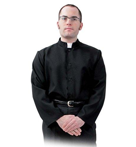 KarnevalsTeufel Herrenkostüm Pater Hemd Religion Gewand Tracht Geistlicher Kirche Gr L, XXL (XXL)