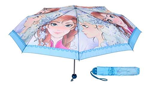 Frozen - Die Eiskönigin Anna und ELSA Kinder Taschen-Regenschirm Blau