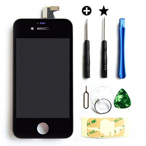 MMOBIEL LCD Pantalla Delantera de Repuesto Compatible con iPhone 4S (Negro) Incluye Kit de 7 Herramientas Premium y Manual de Instrucciones