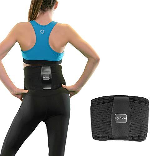 Lyihlou Rückenbandage Rückenstützgürtel| Sport Fitness Rückengurt- Atmungsaktiv (L-XL)