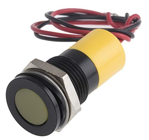 RS PRO LED Anzeigelampe Gelb, Bündig Blende, 12 Vdc / 20 mA, 10 mm/Bohrung 14mm, IP67