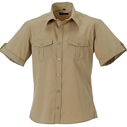 Russell Collection Shirt Mens à manches manches courtes - 6 Couleu - Black - 2XL