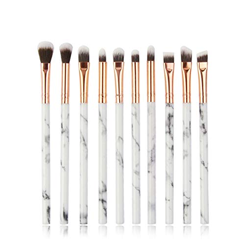 NO LOGO HMYDZ Multifonctions 5/7 / 10pcs persillage Maquillage Pinceaux Pinceau Fard à paupières Eyeliner mis Mini Make Up Brush Tool Kit (Color : 10Pcs Pink)
